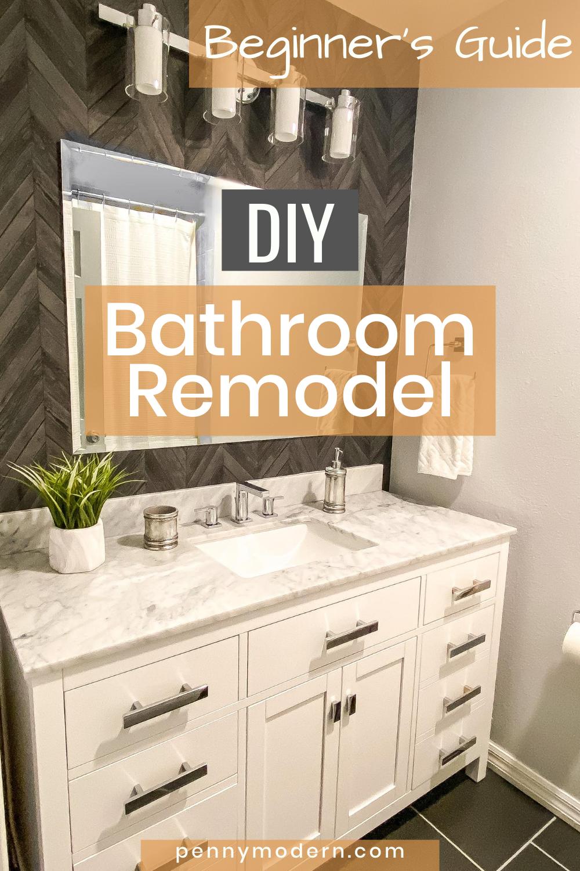 DIY Bathroom Remodel Beginner's Guide   Penny Modern